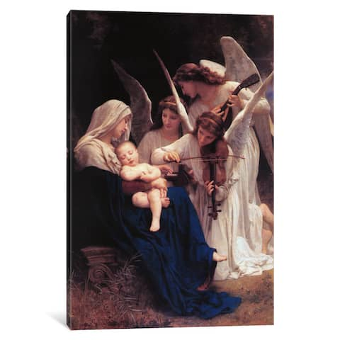iCanvas Song of The Angels by William-Adolphe Bouguereau Canvas Print