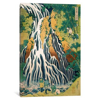 iCanvas Pilgrims at Kirifuri Waterfall on Mount Kurokami in Shimotsuke Province by Katsushika Hokusai Canvas Print
