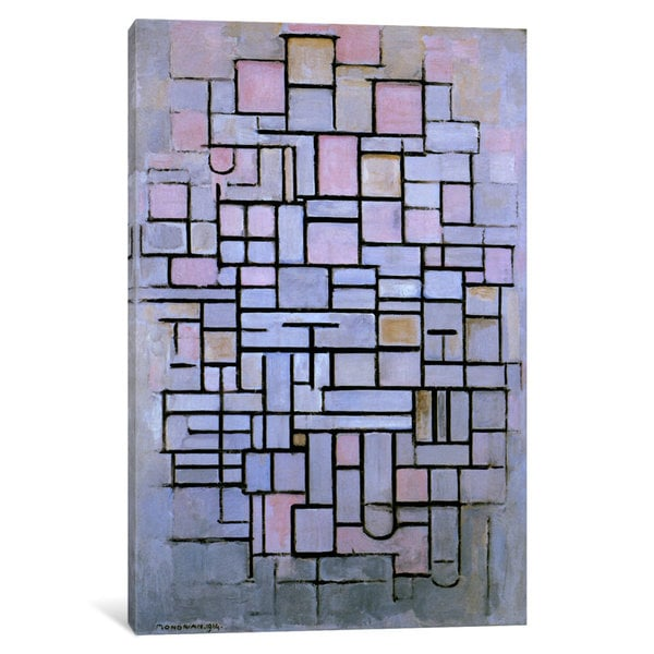 iCanvas Composition 6, 1914 by Piet Mondrian Canvas Print