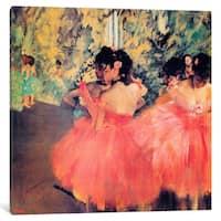 iCanvas Ballerina In Red by Edgar Degas Canvas Print
