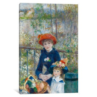 iCanvas Two Sisters (On the Terrace) 1881 by Pierre-Auguste Renoir Canvas Print