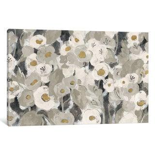 iCanvas Velvety Florals Neutral by Silvia Vassileva Canvas Print