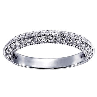 14k/18k White Gold 3/4ct TDW Pave-set Diamond Wedding Ring (G-H, SI1-SI2)