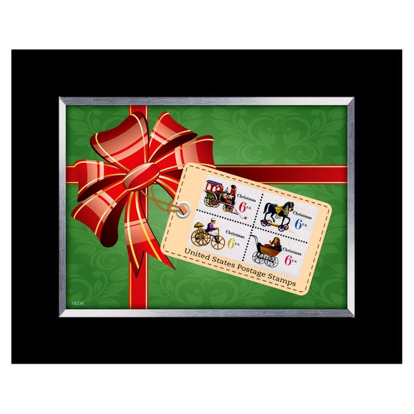 American Coin Treasures Framed Christmas Toy United States Stamp Collection