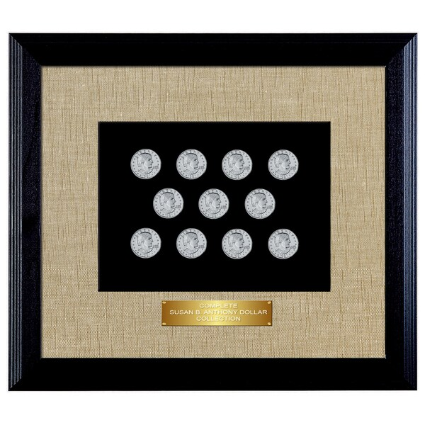 American Coin Treasures Wood Framed Complete Susan B. Anthony Collection