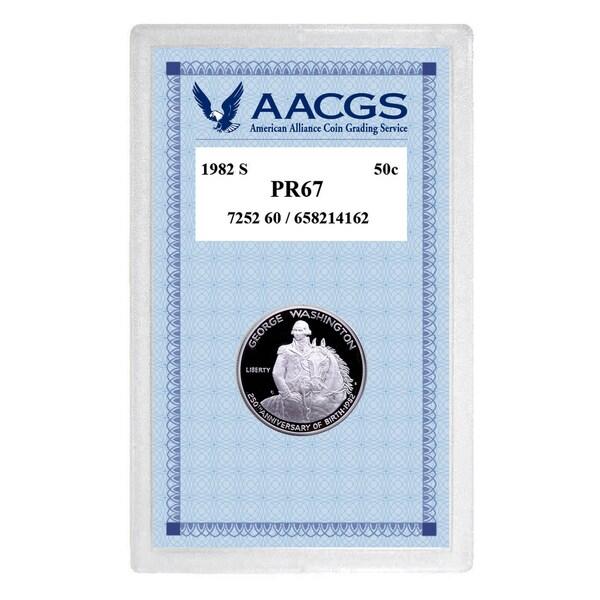 American Coin Treasures 1982S PR67-proof Washington Commemorative Silver Half Dollar