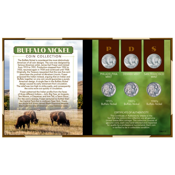 American Coin Treasures Buffalo Nickel Coin Set