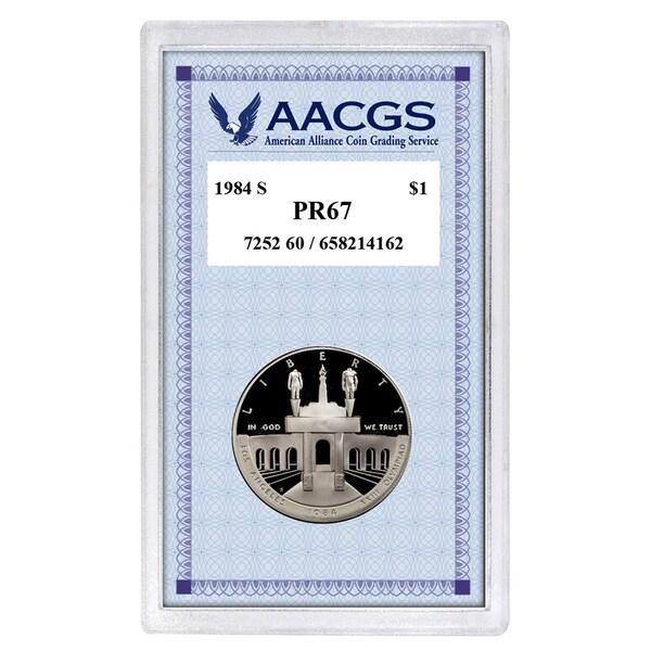 American Coin Treasures Proof 1984-S Los Angeles Olympiad Commemorative Silver Dollar