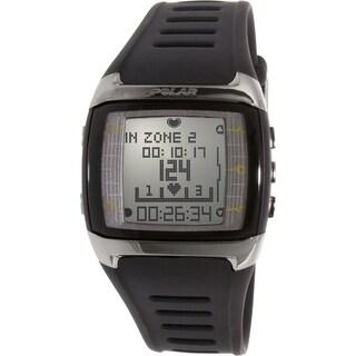 Polar Men's Heart Rate Monitor FT60M-BLK Black Silicone Quartz Watch