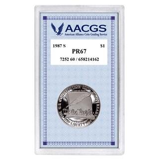 American Coin Treasures Proof Constitution Bicentennial Commemorative Silver Dollar in Acrylic Case
