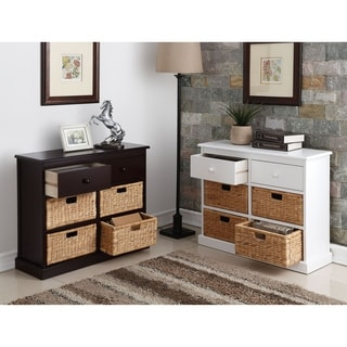 William's Imports 'Nina' MDF 2-drawer/4-Basket Storage Table