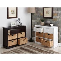William's Imports 'Nina' MDF 2-drawer/4-Basket Storage Table