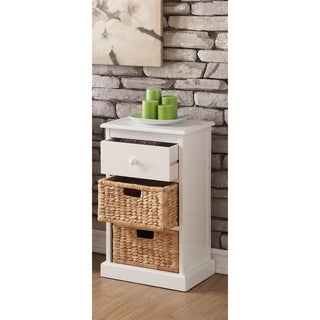 William's Imports Nina 1 Drawer and 1 Basket Storage Table