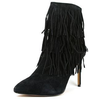 Steve Madden Women's Flappper Black Suede Regular Boots