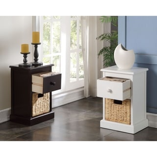 William's Imports Nina 1-Drawer and 1-Basket Storage Table