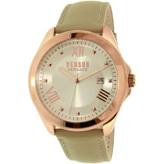 Versus by Versace Women's Elmont SBE030015 Beige Leather Quartz Watch