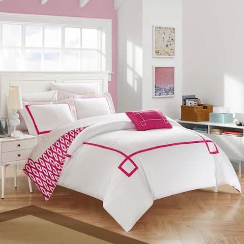 Chic Home 4-Piece Xanti Fuchsia Duvet Cover Set