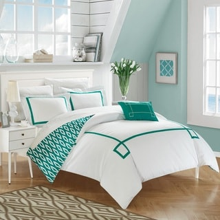Chic Home 8-Piece Xanti Aqua BIB Duvet Set