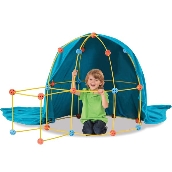 3144c7670efa Shop Discovery Kids 69-piece Flexible Construction Fort - Free ...