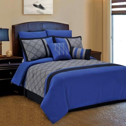 Traditional Geometric Trellis 8-Piece Comforter Set by Miranda Haus