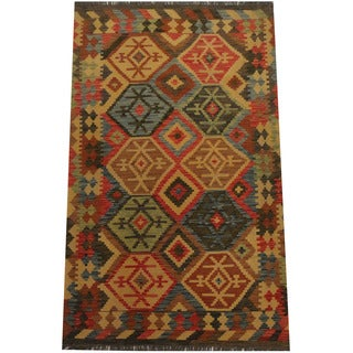 Herat Oriental Afghan Hand-woven Tribal Kilim (4'1 x 6'4)
