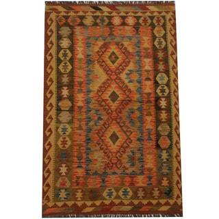 Herat Oriental Afghan Hand-woven Tribal Kilim (3'4 x 5'11)