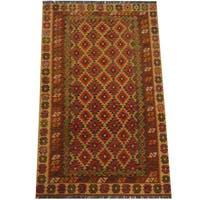 Herat Oriental Afghan Hand-woven Tribal Wool Kilim (4'1 x 6'8)