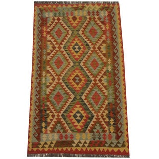 Herat Oriental Afghan Hand-woven Tribal Kilim (3'9 x 6'3)