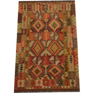 Herat Oriental Afghan Hand-woven Tribal Kilim (4'3 x 6'4)