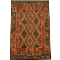 Herat Oriental Afghan Hand-woven Tribal Wool Kilim (3'9 x 5'3) - 3'9 x 5'3