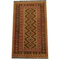 Herat Oriental Afghan Hand-woven Tribal Wool Kilim (3'10 x 6'3) - 3'10 x 6'3