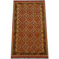 Herat Oriental Afghan Hand-woven Tribal Wool Kilim (3'11 x 6'3) - 3'11 x 6'3