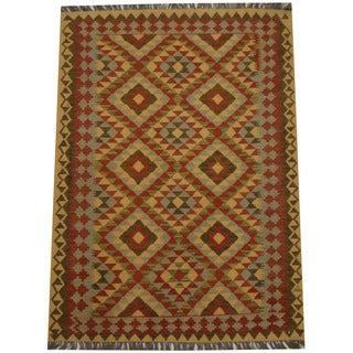 Herat Oriental Afghan Hand-woven Tribal Kilim (4'3 x 5'4)
