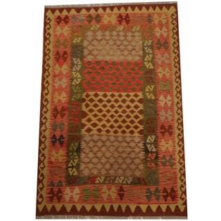 Herat Oriental Afghan Hand-woven Tribal Kilim (3'11 x 6'3)