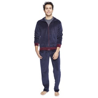 Majestic International Men's Knit Velour Warmup Set