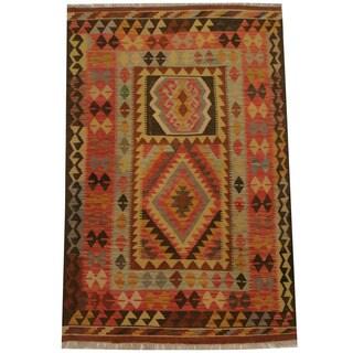 Herat Oriental Afghan Hand-woven Tribal Kilim (3'10 x 5'3)