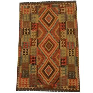 Herat Oriental Afghan Hand-woven Tribal Kilim (3'9 x 5'3)