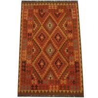 Herat Oriental Afghan Hand-woven Tribal Wool Kilim (3'11 x 6'3)