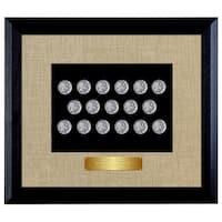 American Coin Treasures 'Last 20 Years of Buffalo Nickels' in Wood Frame