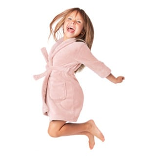 Rosemont Kids' Polyester Fleece Plush Robe