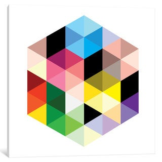 iCanvas Modern Art- Cuboids lll by 5by5collective Canvas Print