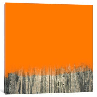 iCanvas Modern Art- Over the Wood Fence by 5by5collective Canvas Print