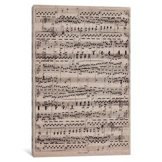 iCanvas Modern Art - Sheet Music Ode to Joy by 5by5collective Canvas Print