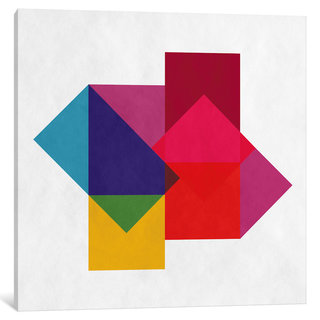 iCanvas Modern Art- Study of Colors by 5by5collective Canvas Print