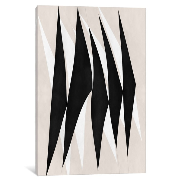 iCanvas Modern Art - Zebra Print Tribal Paint by 5by5collective Canvas Print