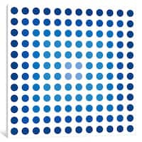 iCanvas Modern Art- Faded Navy Dots by 5by5collective Canvas Print
