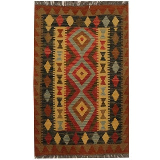 Herat Oriental Afghan Hand-woven Tribal Kilim (2'1 x 3'2)