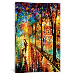 iCanvas Walk With Dog by Leonid Afremov Canvas Print