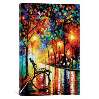 iCanvas The Loneliness Of Autumn by Leonid Afremov Canvas Print