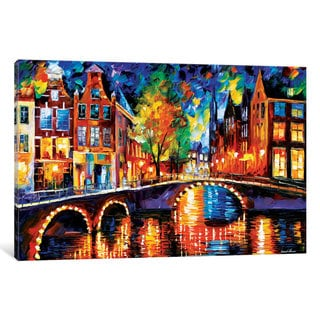 iCanvas The Bridges Of Amsterdam by Leonid Afremov Canvas Print